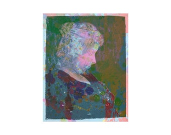 Picasso's Mother - Mottled Remix - Includes Photograph of Picasso's Mother 1930 - Limited Edition 1-25 - Signed and Dated - By Kat Evans.