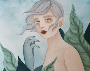Clayborne, A5 art print / impression d'art A5 - illustration, painting, watercolor, art, aquarelle, peinture, impression, print