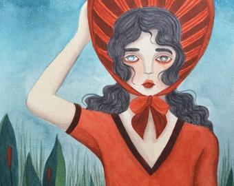 Moira - A5 art print / impression d'art A5 - illustration, painting, watercolor, art, aquarelle, peinture, impression, print