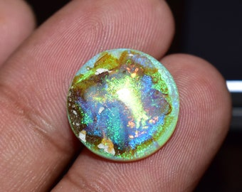 9.20 Cts 27x19 MM Natural Australian Opal Doublet Big Size Cabochon Multi Color Rainbow Fire Australian Opal Cabs Gemstone Jewellery Making