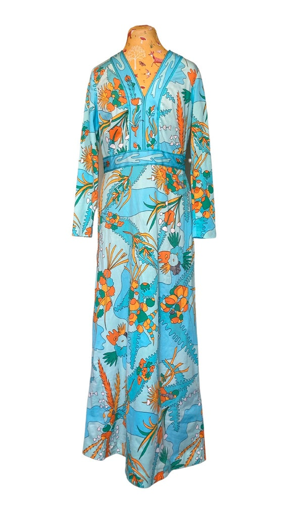70's Vintage Psychedelic Maxi Dress