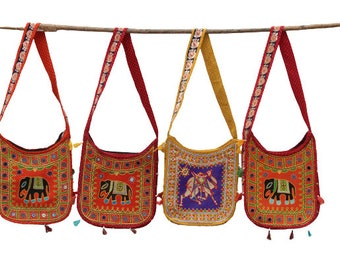 Clutch Purse Sling Bag Cross Body Bag Handmade Banjara Wholesale Lot 10 piece