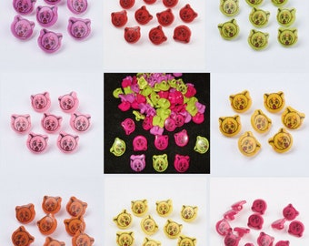 Buttons for sewing and knitting B120 15mm Teddybear Buttons