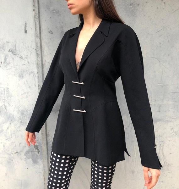 Thierry Mugler 90s Vintage Black Blazer Jacket