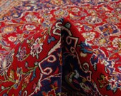 9 39 1 quot x 12 39 6 quot Red Floral Living Room Rug, Palace Size Red and Blue rug, Classic Red Carpet ,Vintage Oriental Rug Antique Area Rug 00020918