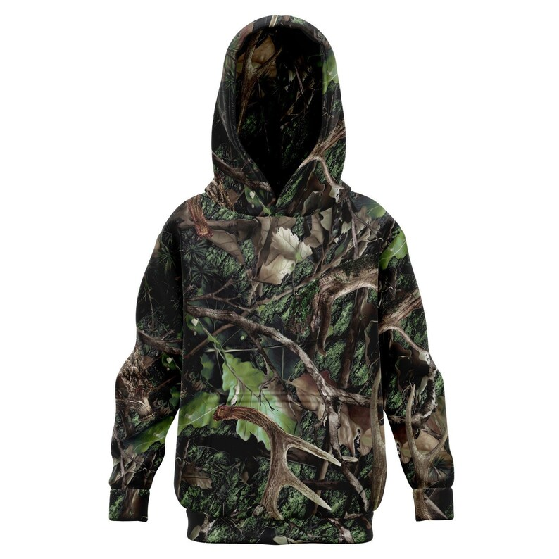 Realtree Camouflage Hunter Sweater Green Camo Kids Hunting Hoodie Camping Fishing Hunting Apparel