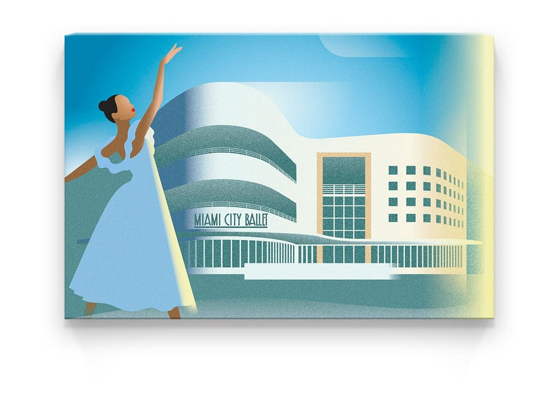 Canvas Print  Miami City Ballet  30x20x1.2 in image 0