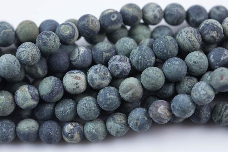 Matte Kambaba Jasper 6mm 8mm 10mm Round Beads Natural Green Camouflage Jasper Full 16 Strand