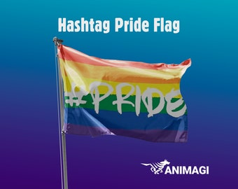 Hashtag Pride Flag [5'x3' // 1.5mx0.9m] - 100% Polyester / 2 Metal Eyelets for Hanging