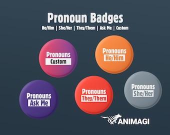 Pronouns Badges (32mm)