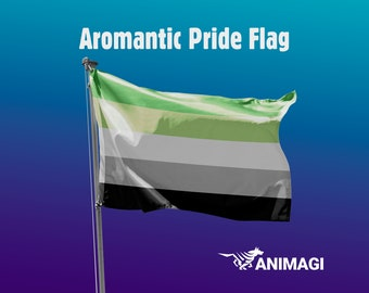 Aromantic Pride Flag [5'x3' // 1.5mx0.9m] - 100% Polyester / 2 Metal Eyelets for Hanging