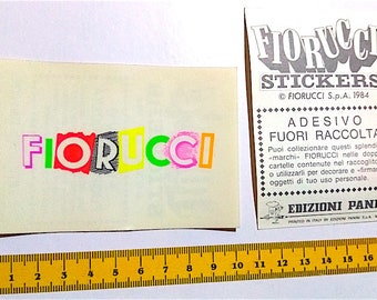 FIORUCCI stickers 1984 Panini italy sticker - out-of-collection sticker never used
