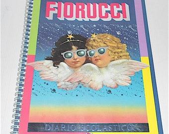 FIORUCCI 1985 Amz italy school MAXI diary - diary school mint kawaii grande - pop art - pop culture