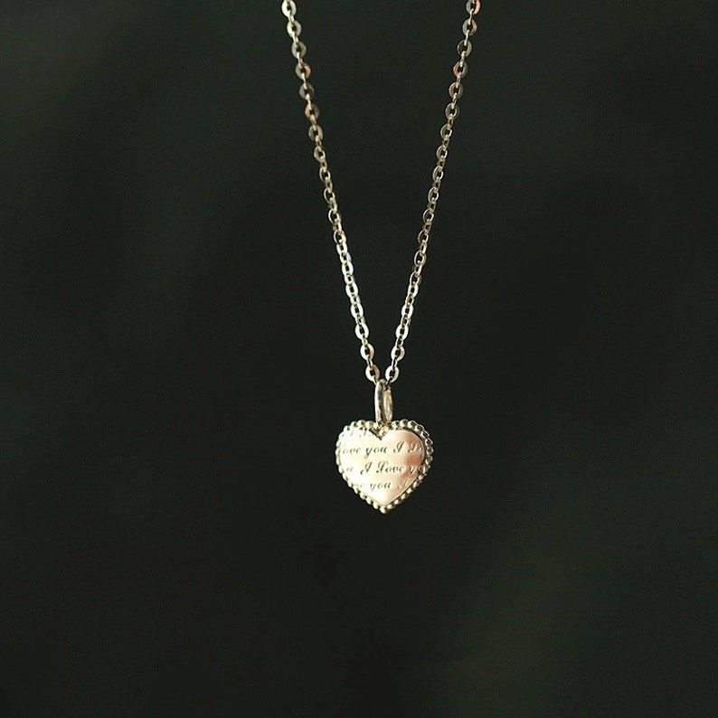 Minimalist Necklace Fashion Gold Necklace Bridesmaid Gift Layering Necklace Gold Heart Necklace Gold Necklace