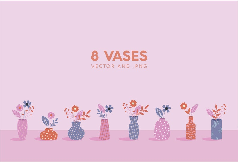 EPS Plants Clipart 244 Flower Vector Clipart Assets and Patterns Vector Flower Clipart