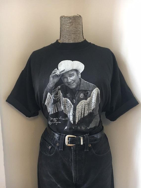 90s Vintage Roy Roger's Cowboy T-Shirt XL