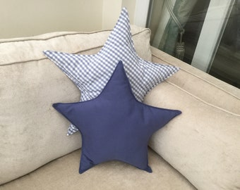 Blue gingham pillow | Etsy
