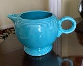 Vintage Fiesta Turquoise 44 oz. Teapot- No Lid Circa 1988-1992