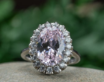 Oval Cut 10*14mm Pink Sapphire Engagemeng Rings, Anniversary Ring, Gift for Her