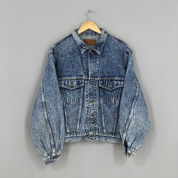 Vintage 80s Wrangler Usa Denim Jeans Jacket Large