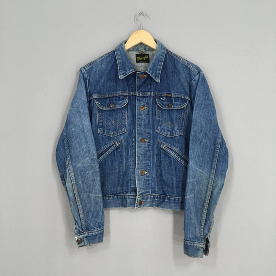 Vintage 80s Wrangler Usa Denim Jeans Jacket Medium