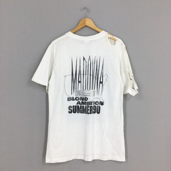 Vintage Distressed Madonna T shirt Large Pop Rock… - image 6