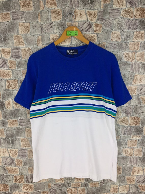 Vintage Polo Sport Spell Out Tshirt Men Medium 199