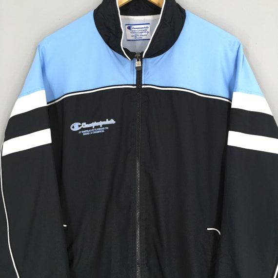 Vintage 90's Champion Windbreaker Jacket Xlarge C… - image 2