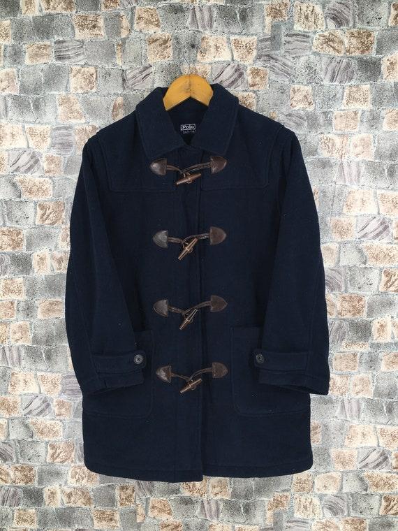 Polo Ralph Lauren Fleece Duffle Jacket Medium Blue