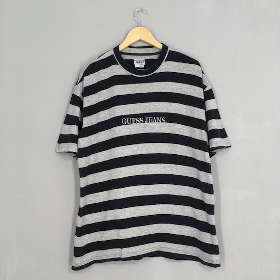 Vintage Guess Jeans Striped Tshirt Small 1990's Gu
