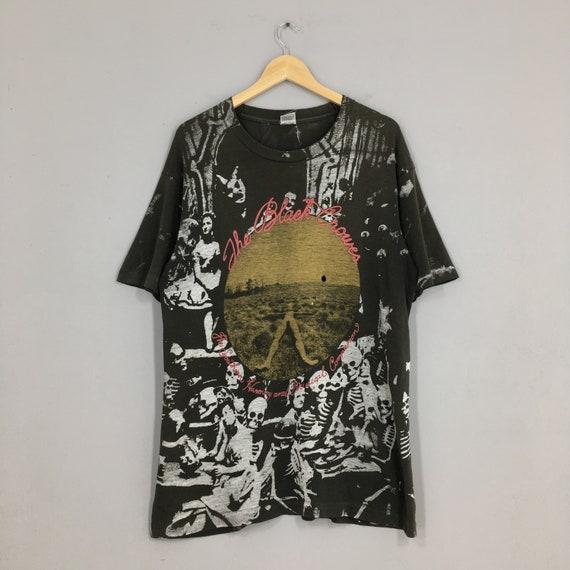 Vintage The Black Crowes Overprint Rock Tshirt Lar