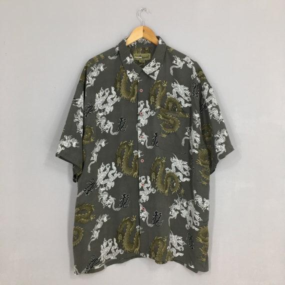 Vintage Dragon Hawaii Shirt XXLarge Japanese Tatt… - image 1