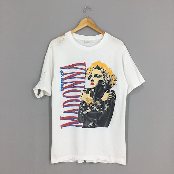 Vintage Distressed Madonna T shirt Large Pop Rock