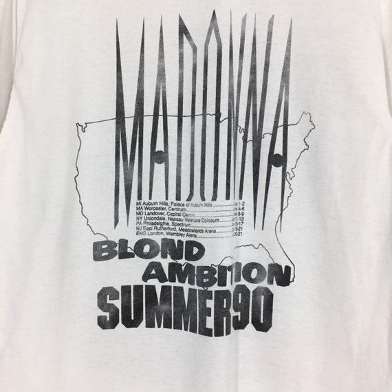 Vintage Distressed Madonna T shirt Large Pop Rock… - image 7