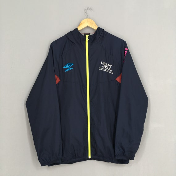 Umbro Sports Windbreaker Blue Jacket Large Activew
