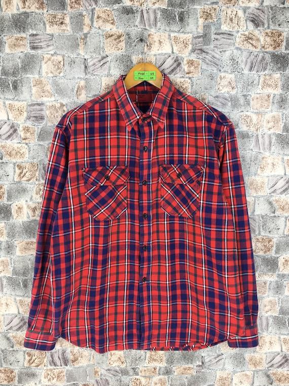 Vintage LEVIS Strauss Checkered Flannel Shirt Larg