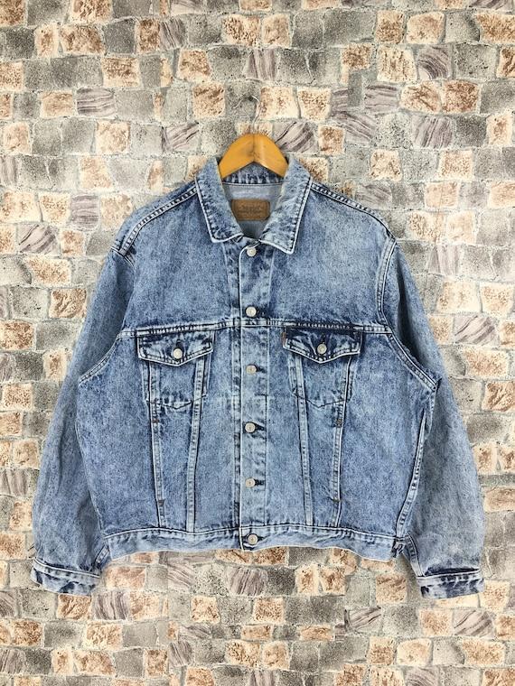 Vintage Levis Strauss Trucker Denim Jeans Jacket L