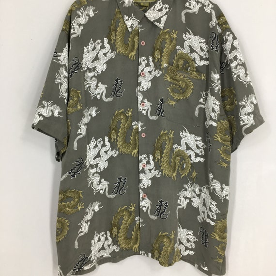 Vintage Dragon Hawaii Shirt XXLarge Japanese Tatt… - image 3