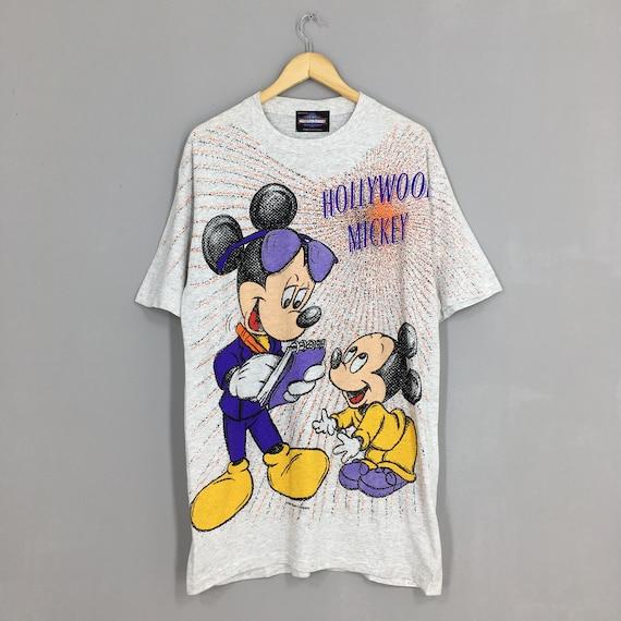 Vintage Mickey Mouse Overprint T shirt Medium 80's
