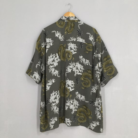 Vintage Dragon Hawaii Shirt XXLarge Japanese Tatt… - image 7