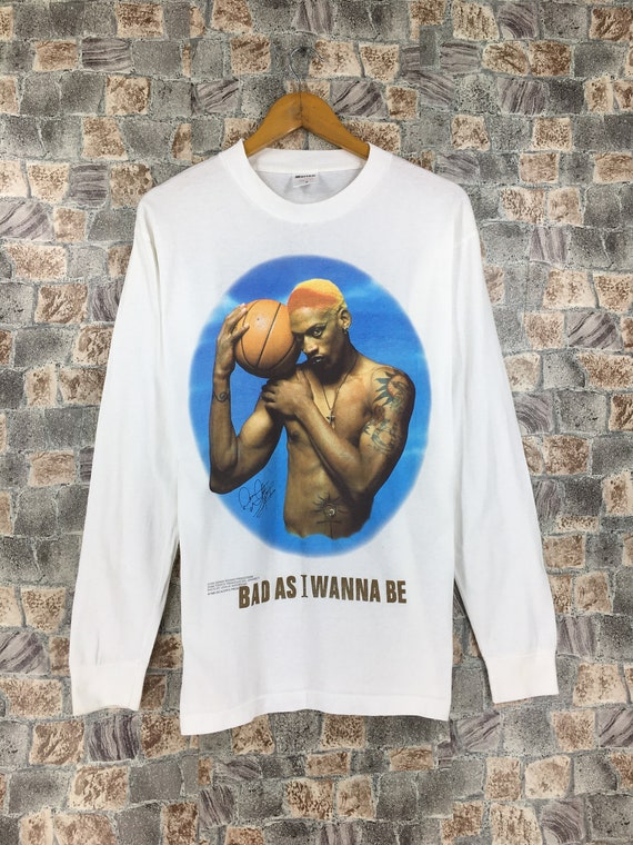 Vintage 90's Dennis Rodman T shirt Medium Bad As I