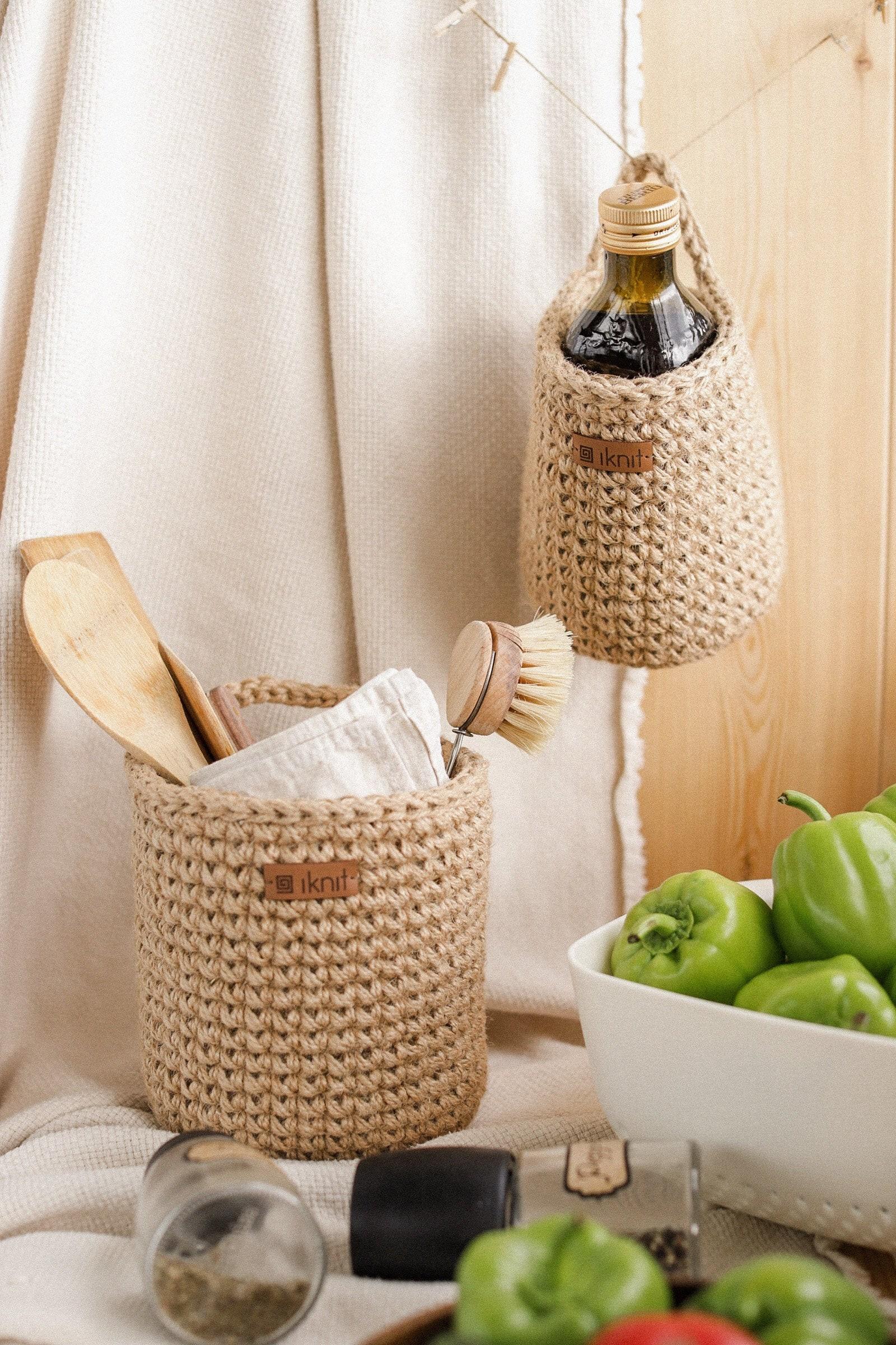 Set of two baskets | Wall hanging baskets | Storage baskets | Jute baskets