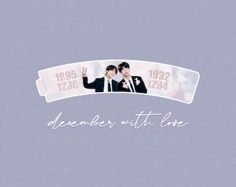 BTS Taejin Cupsleeve Taehyung and Jin