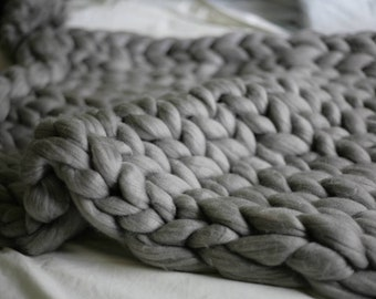 Acrylic Chunky Knit Bedrunner