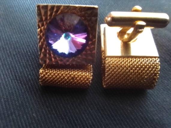 Jewelry of the USSR Old cufflinks Jewelry made USSR. Vintage rarity enamel Soviet blueOld cufflinks