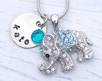 Gift Ideas For Women Design Ring with Name For Girl Mother Animal Letter Jewelry Lovely Elephant Animal Personalized Custom Name Bracelet
