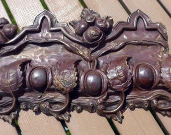 Vintage Copper Pressed Architectual Moulding Backing Piece