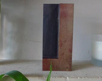 "Wooden Letterpress Printing Block, 170mm / 6 3/4"" Tall, The Letter ""L"""