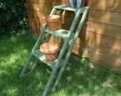 Larger Outdoor Plant Stand Repurposed Ladder, Ideal for Herbs, Cuttings, Small Plants