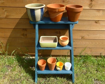 Ladder Plant Stand,Tiered Plant Pot Stand, Ideal for Herbs, Cuttings, Small Plants, Repurposed Ladder